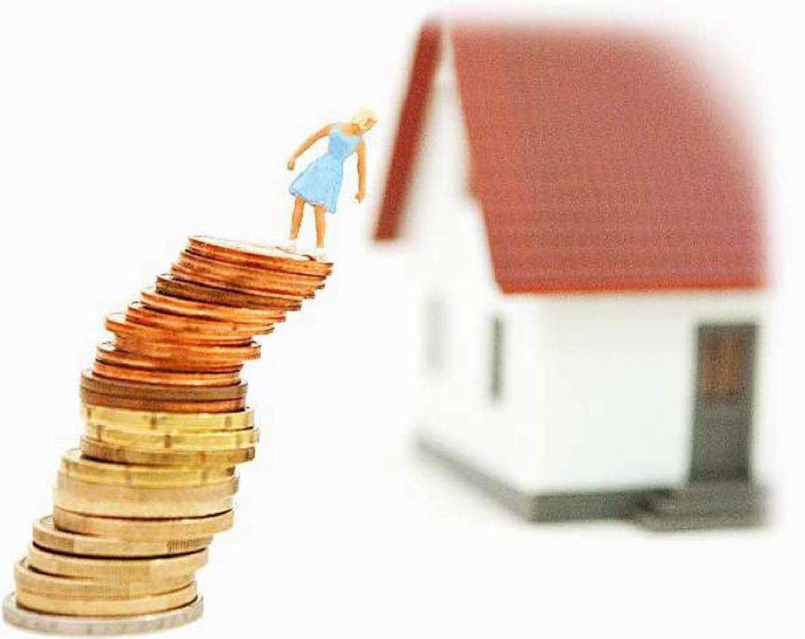 Da läuft was schief: Viele Hausbauer w...s, doch die Banken lassen  sie nicht.   | Foto: dpa