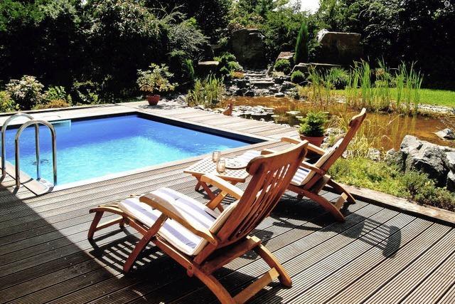 Im Garten baden