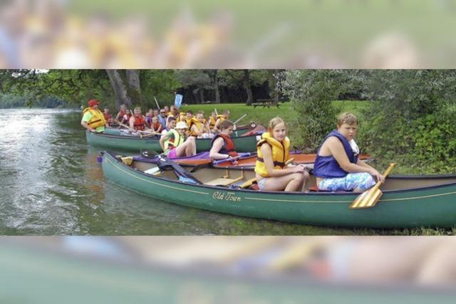 Mit Kanus und Kajaks ins nasse Abenteuer