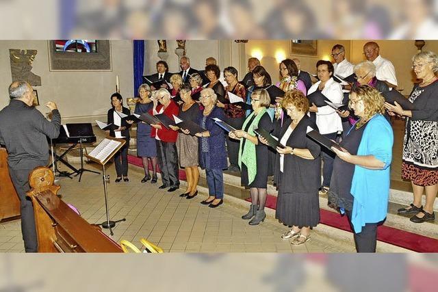15. Sommer-Singwoche endet mit einem Konzert