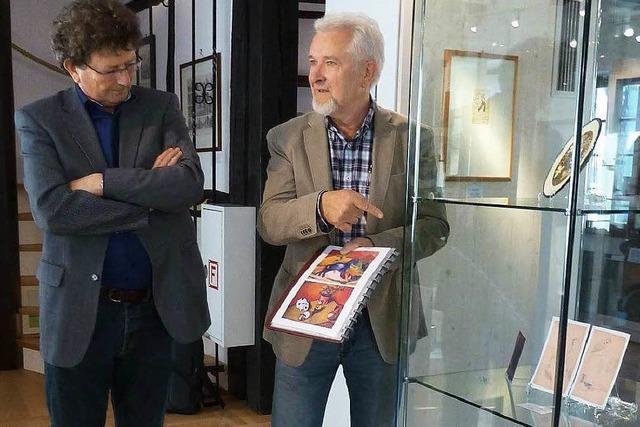 Künstler und Enkel im Dialog