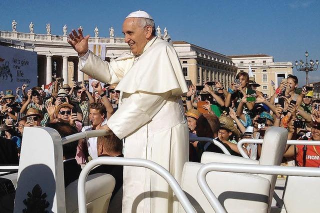 Papst Franziskus ganz nah