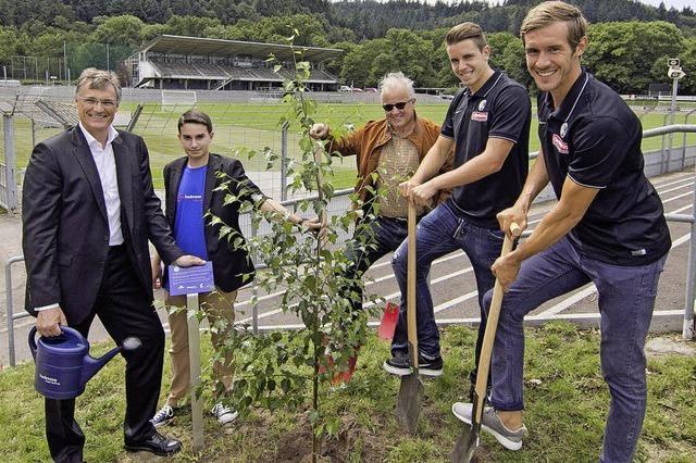 Der SC Freiburg pflanzt Bäume und spendet Geld