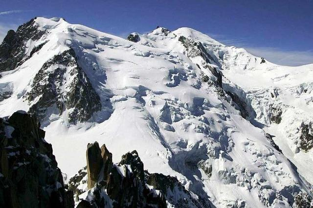 Fünf Alpinisten sterben bei Tour im Montblanc-Massiv