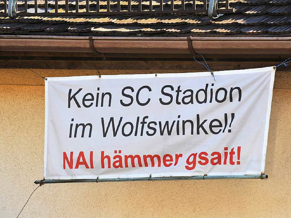Pro Wolfswinkel will kein Stadion im Wolfswinkel.  | Foto: Rita Eggstein