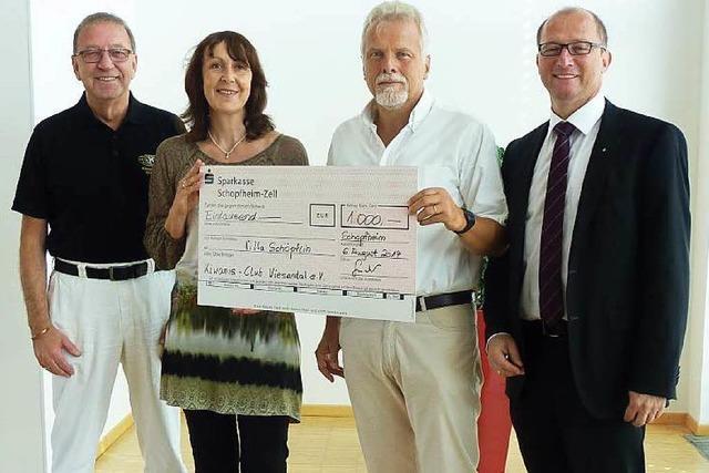 Kiwanis Club unterstützt Villa Schöpflin