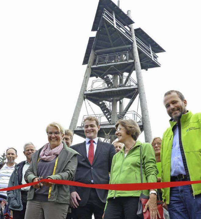 Bei der Eröffnung des  Gipfelrundwegs ...chöttle vom Naturpark Südschwarzwald.     Foto: Thomas Goebel