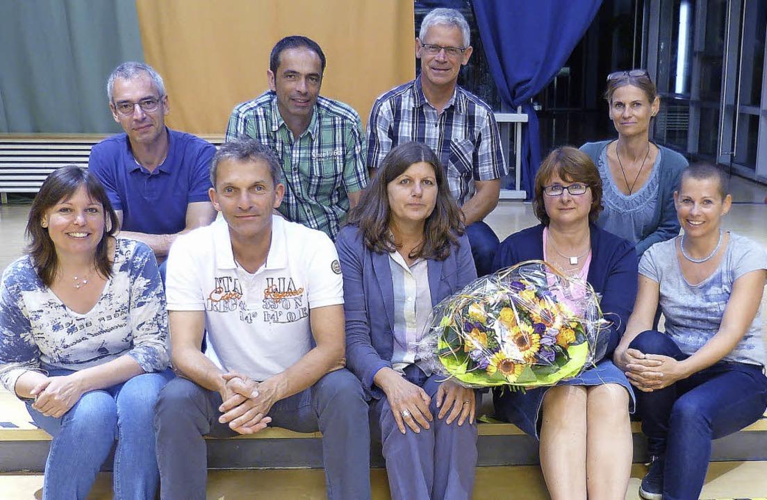 Birgit Treffeisen, Christoph Brill, Su...Ihringer Neunlindenschule engagieren.     Foto: privat