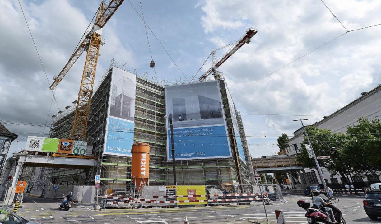 Der Rohbau der Erweiterung des Kunstmuseums steht.   | Foto: Jury Junkov