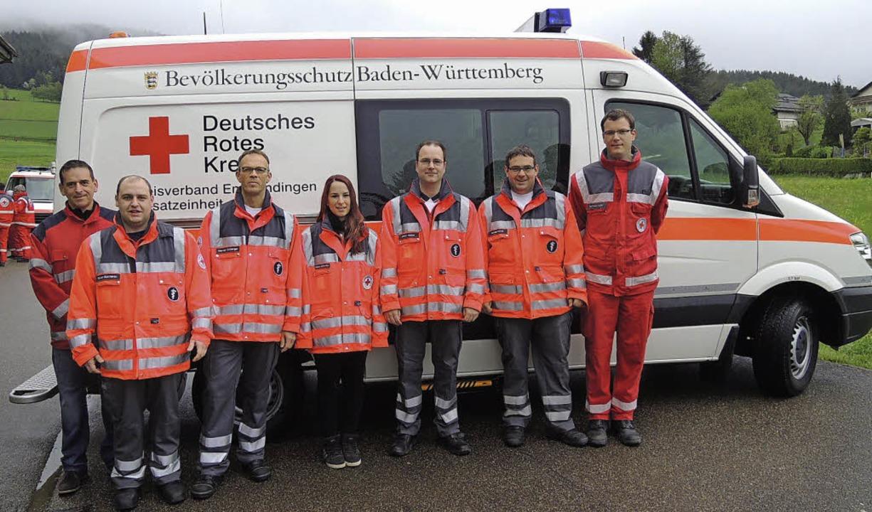 Stationiert im Depot des DRK-Ortsverei...Schill und Matthias Guski (von links).    Foto: Kurt Meier