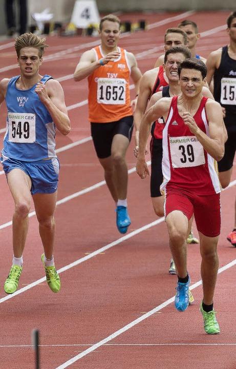 Seinem energischen Schlussspurt war ke...bei der Jugend-DM Gold über 800 Meter.    Foto: anstett