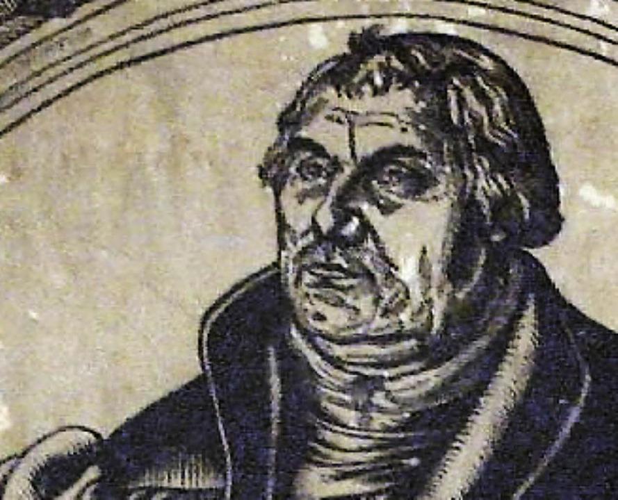 Martin Luther (Holzschnitt von Lucas Cranach)  | Foto: ddp