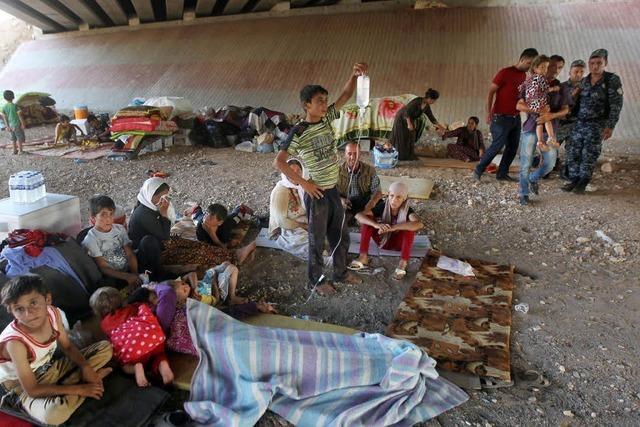 In Dohuk sammeln sich Jesiden