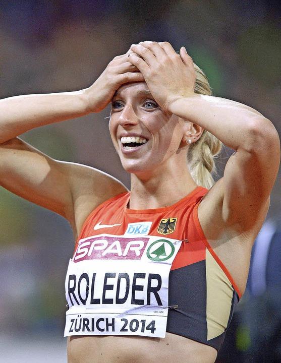 Cindy Roleder freut sich über EM-Bronze.    Foto: dpa