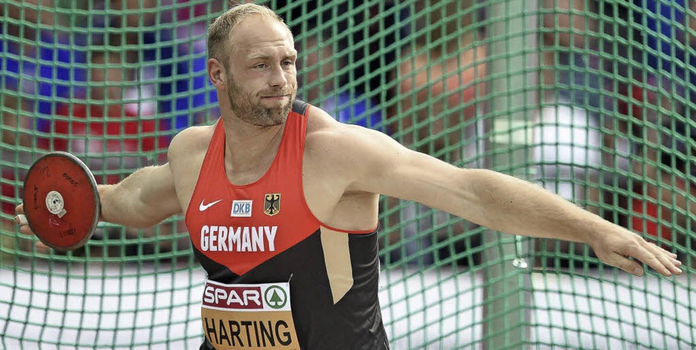 Auch wenn der Wettkampf in Zürich alle...rt Harting lag  am Ende wieder vorn.      Foto: DPA