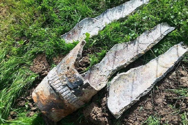 Brandbombe bei Ausgrabungen in Auggen entdeckt