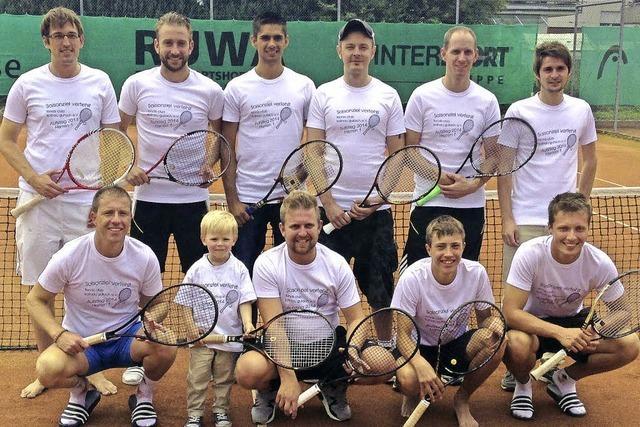 Tennisspieler steigen auf