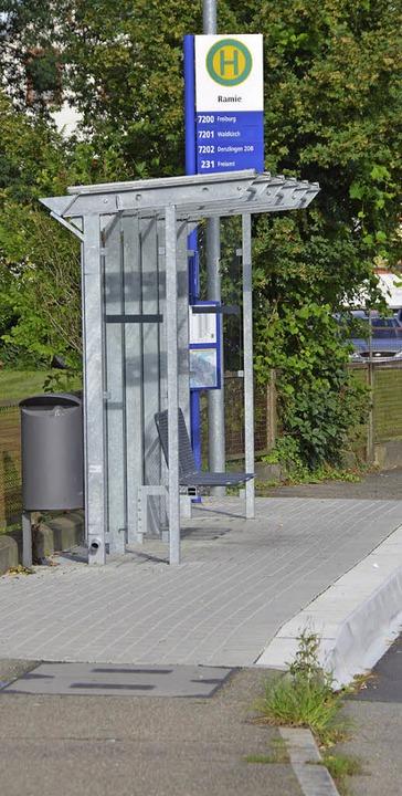 Bereits umgebaut: Die Haltestelle Ramie in Richtung Bürkle-Bleiche.  | Foto: Gerhard Walser