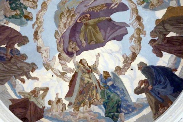 Im Dom schwebt Maria über Blasius