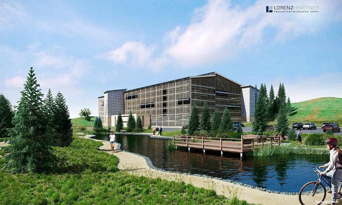 Mit dem Bau des Parkhauses Feldberg so...en, begrünt und neu gestaltet werden.   | Foto: Grafik: Lorenz und Partner