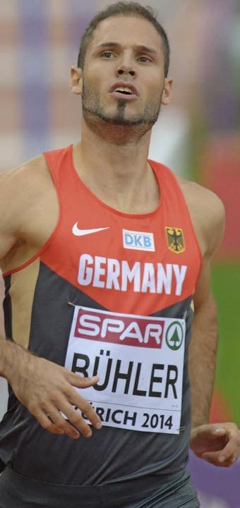 Im Halbfinale knapp gescheitert: Hürdensprinter Matthias Bühler aus Offenburg    Foto: dpa