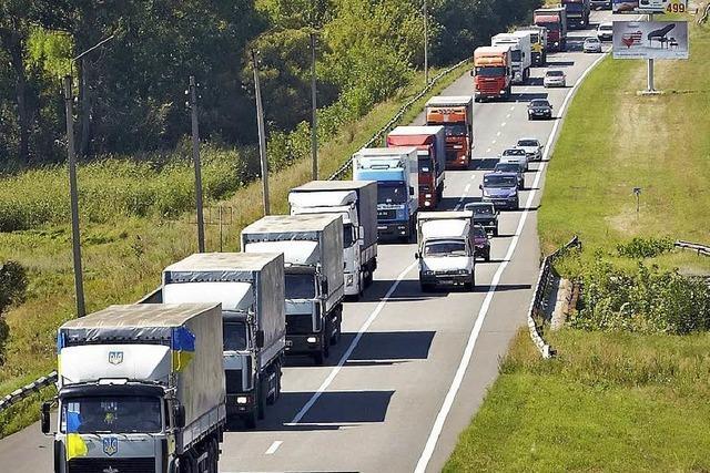 Ukraine sendet eigene Hilfskonvois in die Konfliktregion