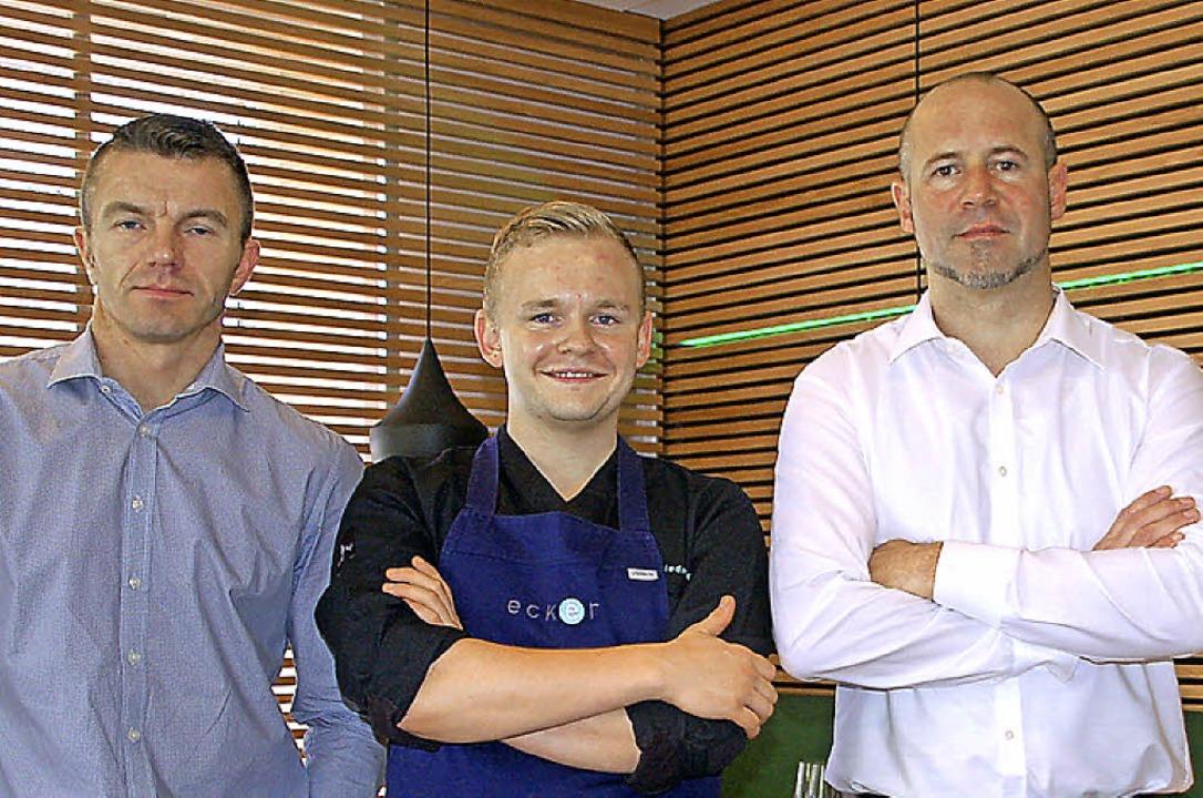 Stolz auf den  Umbau (von rechts): Bes...i P. Wiedmer und David  Barker-Wiedmer  | Foto: Petra Wunderle
