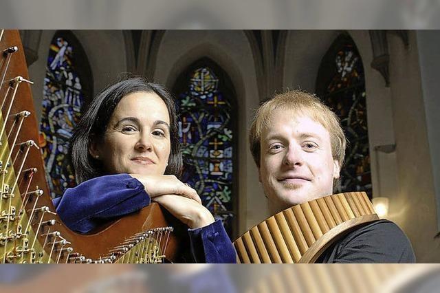 Matthias Schlubeck und Isabel Moretòn spielen im Kloster St. Lioba in Gümterstal