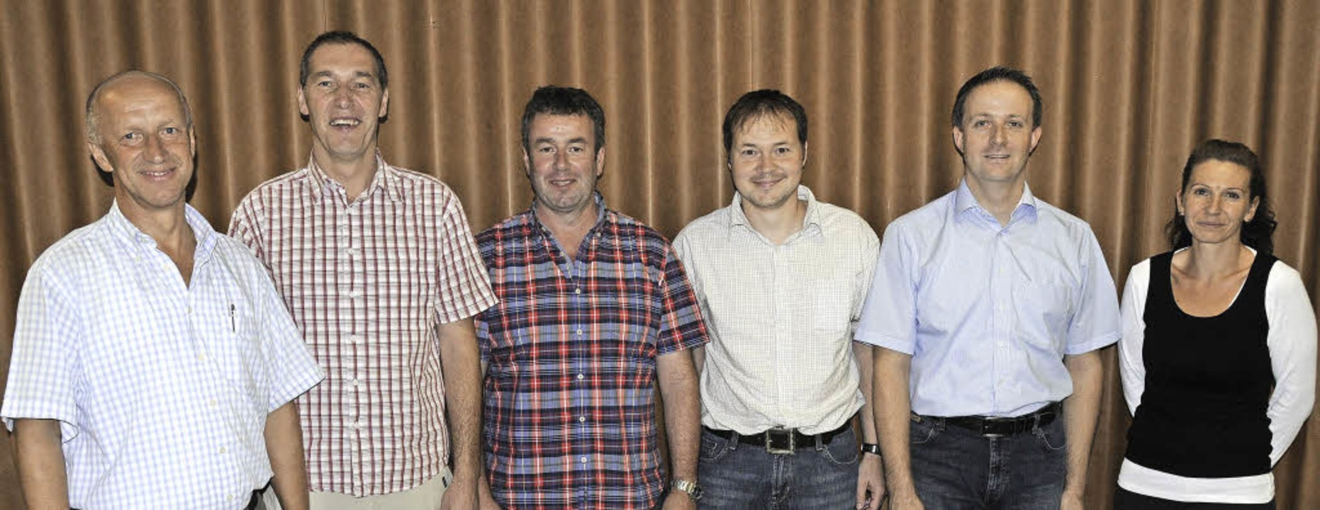 Der neu gewählte Ortschaftsrat in Wang...icker, Matthias Utz und Janine Kaiser.  | Foto: Dietmar Noeske