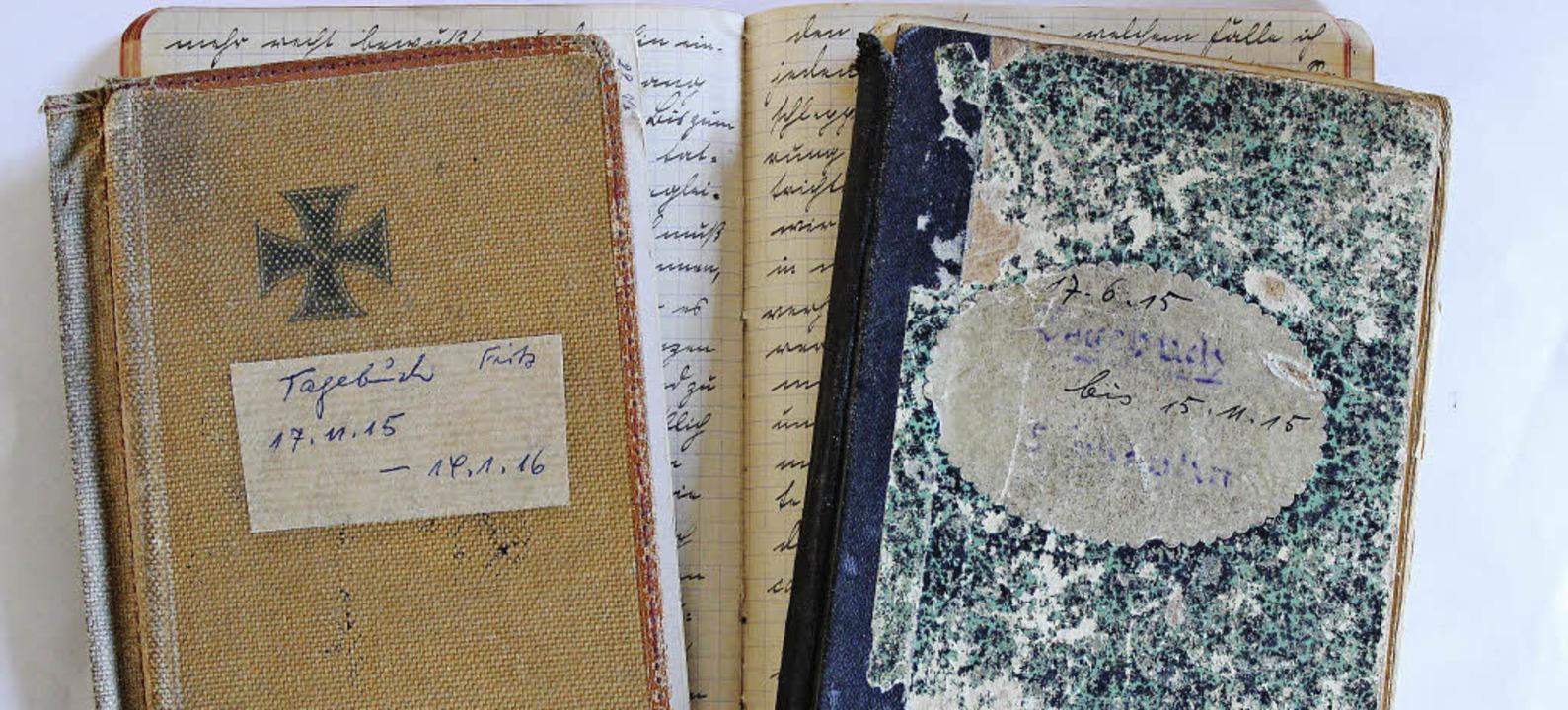 In acht Tagebüchern beschreibt Friedrich Schaulin den Krieg.     Foto: Jacob