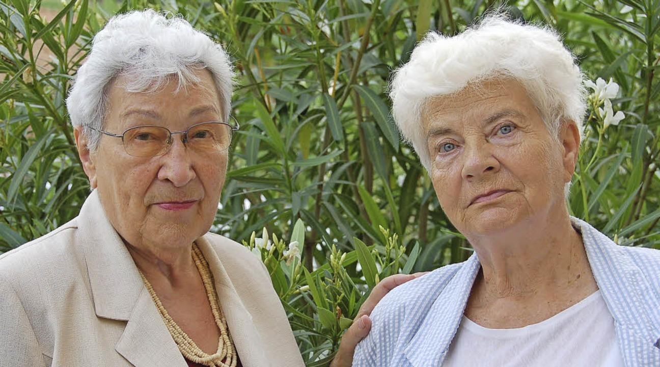 Zdzislawa Wlodarczyk (links) und Barba..., die sie im jungen Alter erlebt haben  | Foto: Andrea Steinhart
