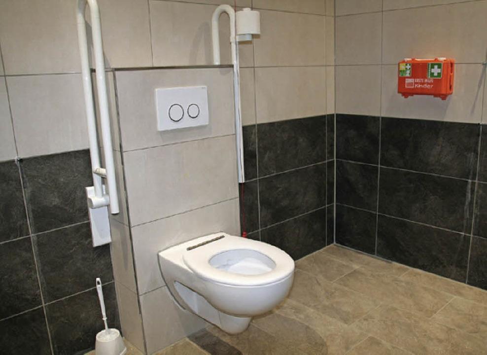 Blick in die barrierefreie Toilette.  | Foto: Marlies Jung-Knoblich