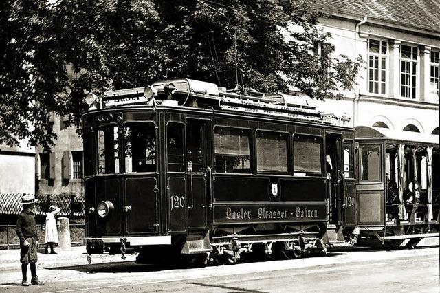 Die Tram fuhr schon um 1900 über die Grenzen