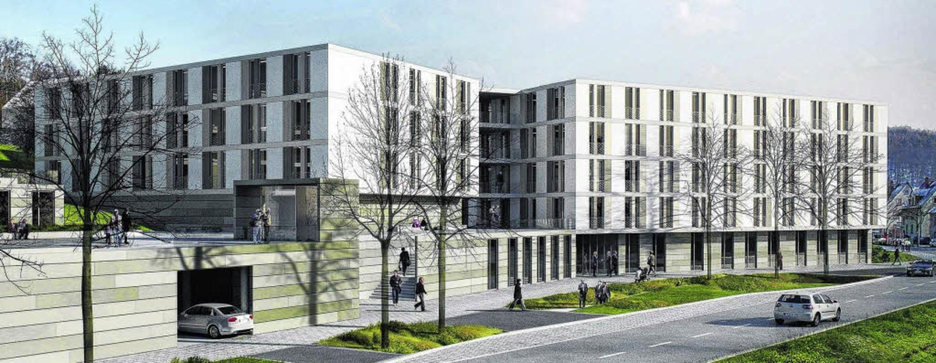 So soll das neue Matthias-Claudius-Hei...Pflegeheim soll im Frühjahr 2014 sein.    Foto: BZ