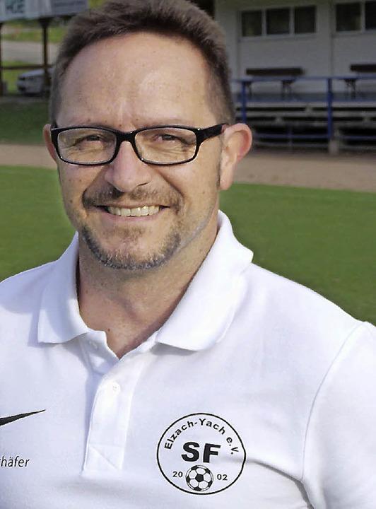 Der neue Trainer Robert Schäfer war fr...auch schon mal als Spieler in Elzach.   | Foto: Tobias Puscher.