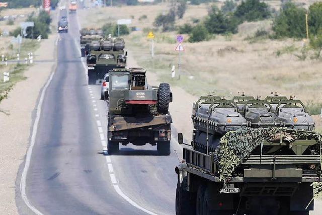 Separatisten räumen Waffenlieferungen aus Russland ein