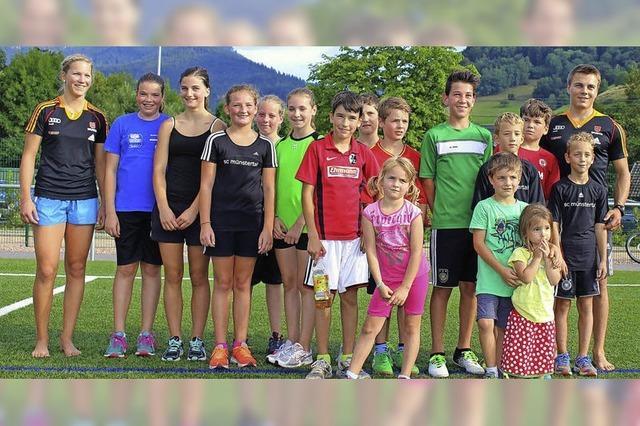 Kinder trainieren mit Maren Wiesler