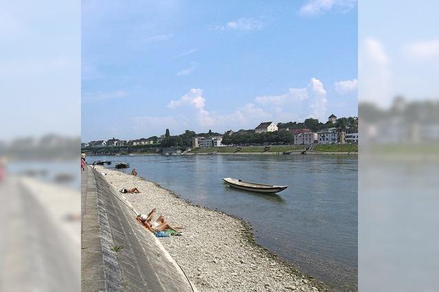 Perlenfischen am Rhein