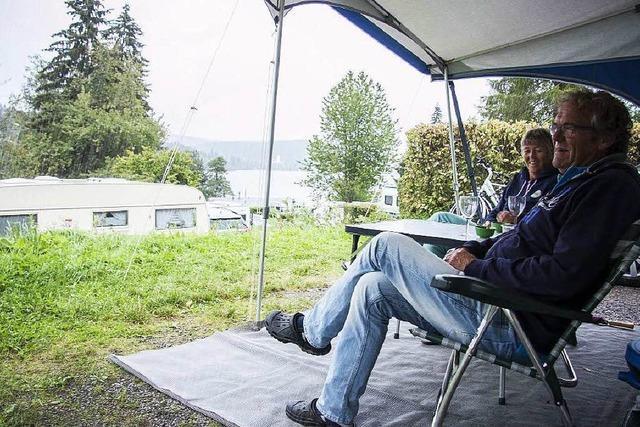 Urlaub im Hochschwarzwald: Campen im Regen