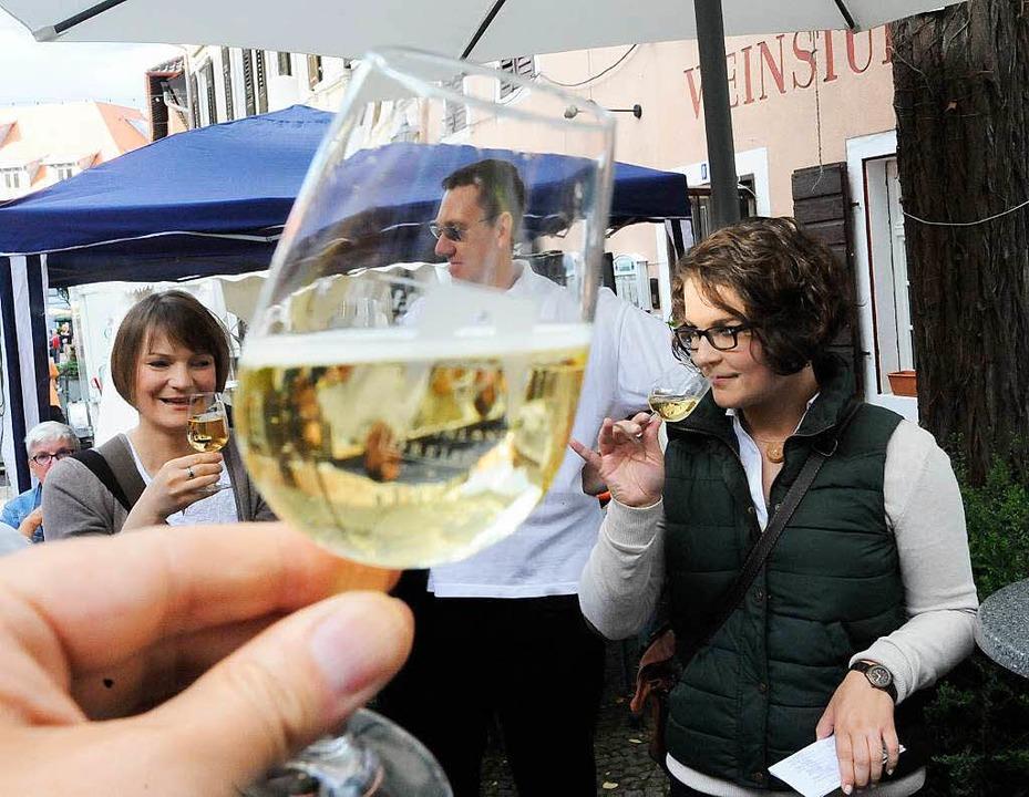 Vor allem bukettreiche Weine standen hoch in der Gunst der Weinfest-Besucher.   | Foto: Zimmermann
