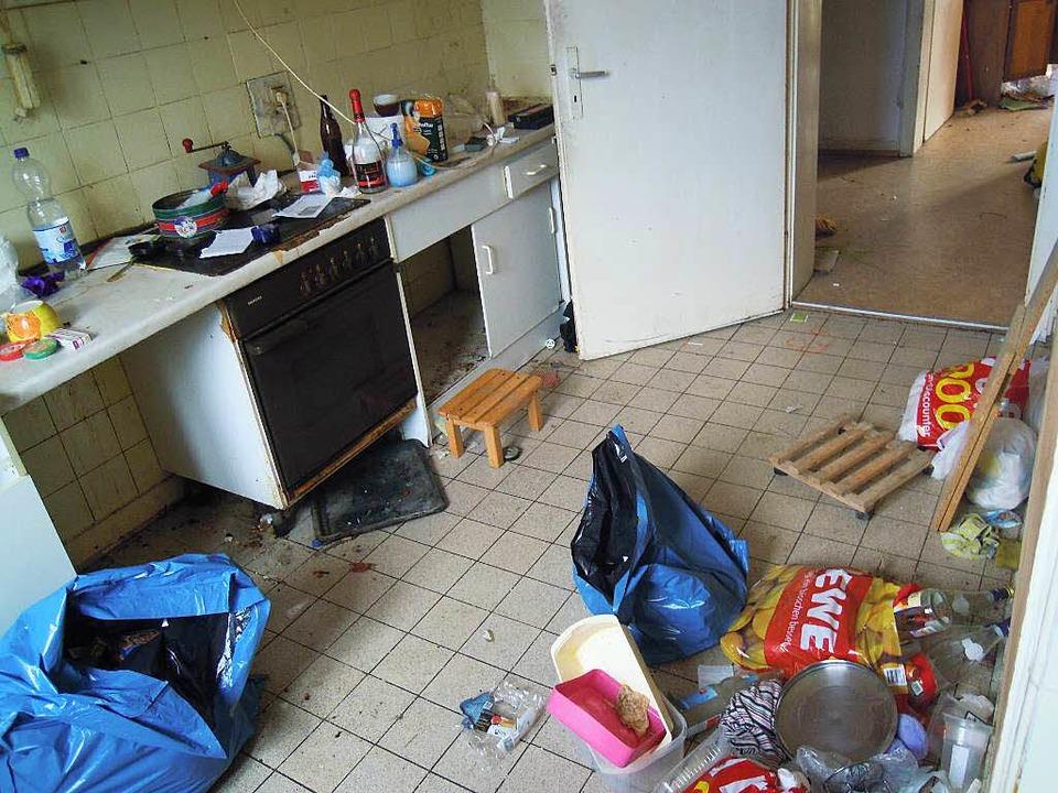 Verdreckte Wohnung