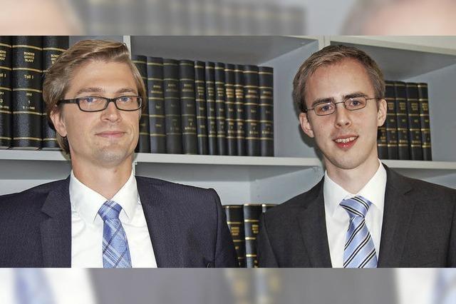Neue Notare gleich im Doppelpack