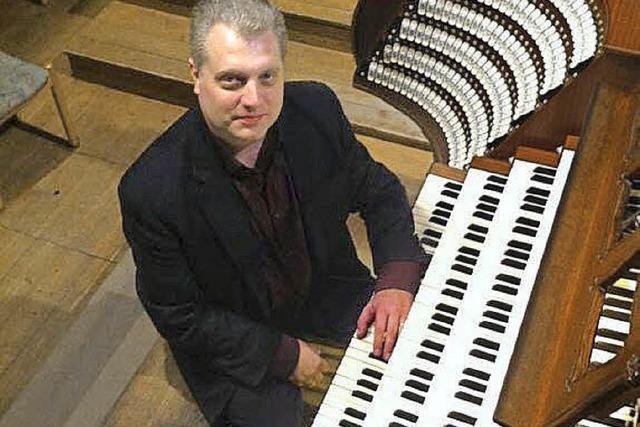 Stephen Tharp spielt in der Barockkirche St. Peter