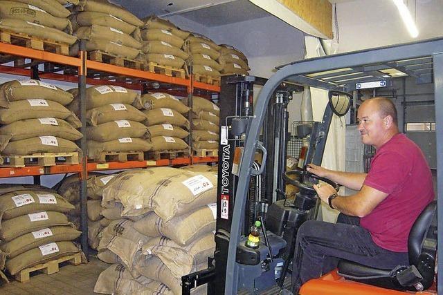 33 Tonnen frischer Kaffee