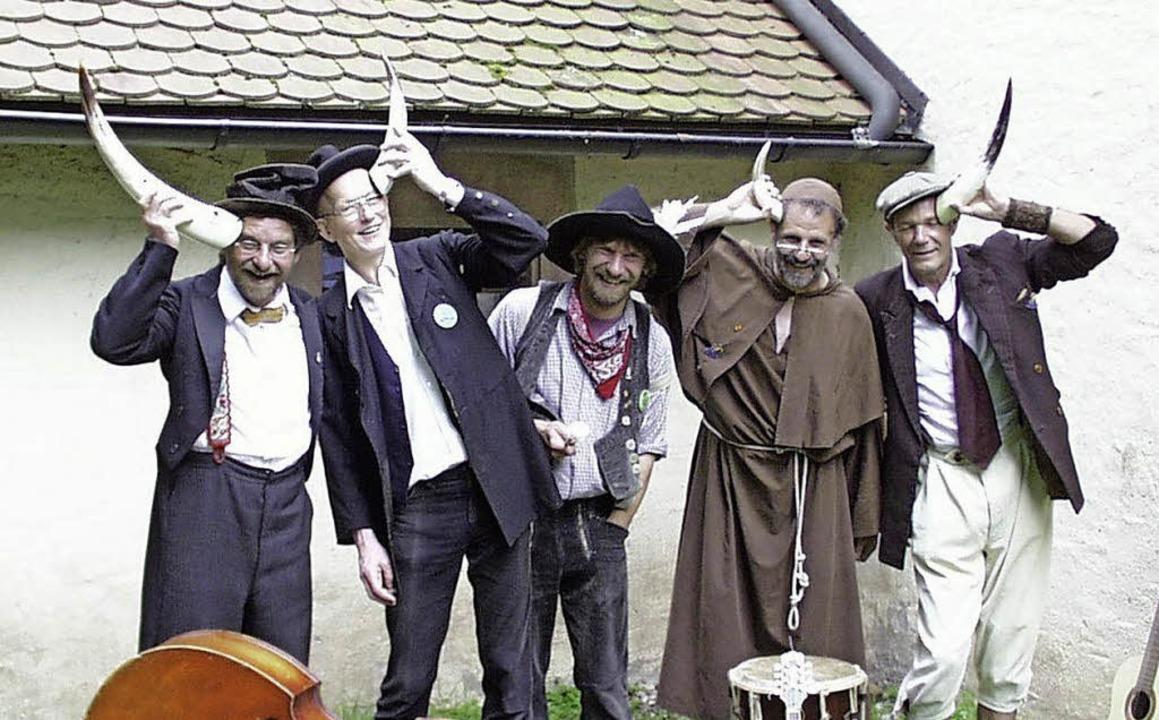"""Die Mundartgruppe """"Freibier& Speck"""" aus Haslach im Kinzigtal.     Foto: privat"""