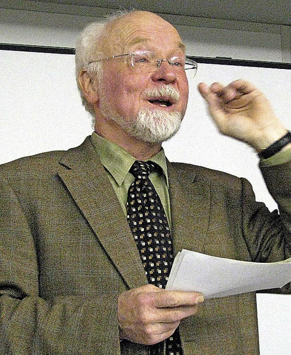 Prof. Konrad Kunze.     Foto: privat