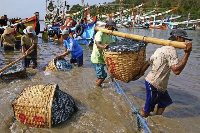Fischer in Indonesien haben einen riskanten Job