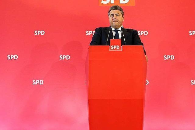 Parteichef Sigmar Gabriel sieht die SPD auf Kurs