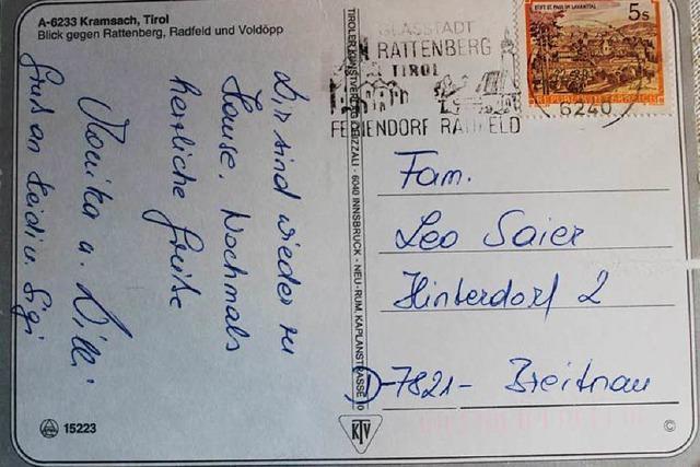 Postkarte braucht 23 Jahre: Freunde finden wieder zusammen