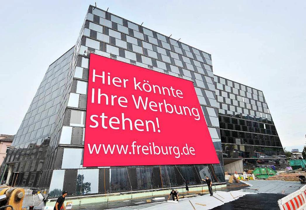 Werbung können sich viele User auf dem...el an der UB in Freiburg vorstellen.    | Foto: Bamberger/Oettlin
